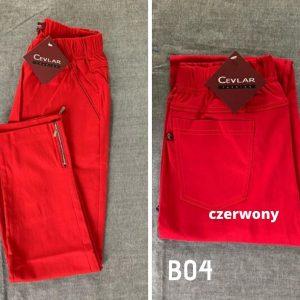 Spodnie z bengaliny Cevlar B04 kolor czerwony, plus size XXL