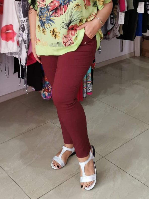 Spodnie Bengaliny B09 kolor bordowy