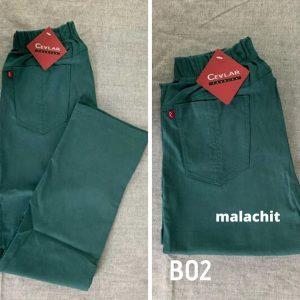 Spodnie z bengaliny Cevlar B02 kolor malachit, plus size XXL