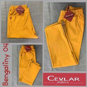 Spodnie z bengaliny Cevlar B04 kolor musztarda miodowa