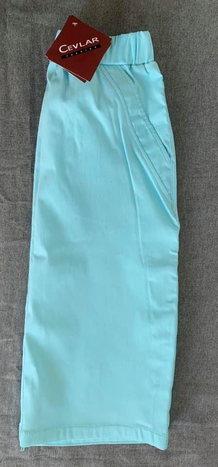 Spódnica jeans Cevlar Legra kolor jasny turkus