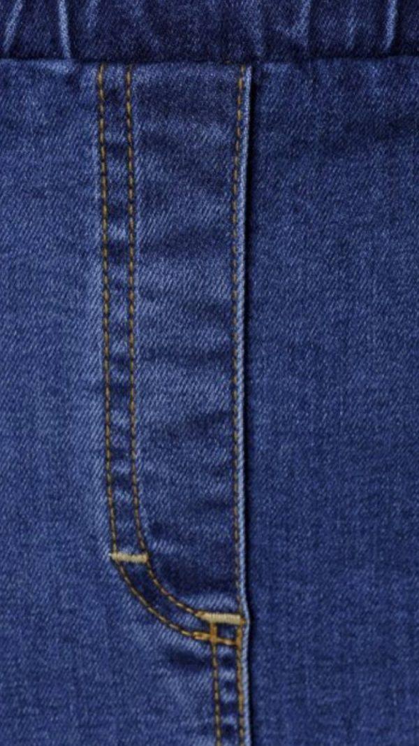 Spódnica jeans Cevlar Luna kolor granatowy