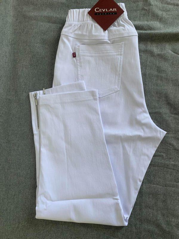Spodnie z bengaliny Cevlar B04 kolor biały
