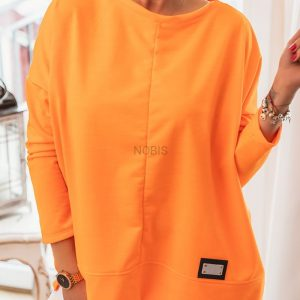 Bluza oversize kolor orange neon