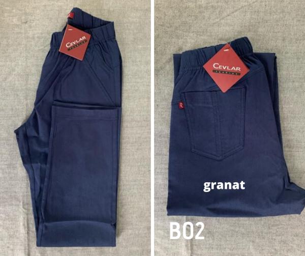 Spodnie z bengaliny Cevlar B02 kolor granatowy, plus size XXL