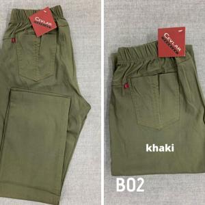 Spodnie z bengaliny Cevlar B02 kolor khaki, plus size XXL
