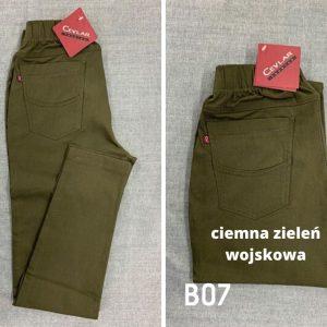 Spodnie z bengaliny Cevlar B07 kolor ciemna zieleń wojskowa, plus size XXL