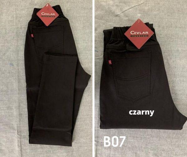Spodnie z bengaliny Cevlar B07 kolor czarny, plus size XXL