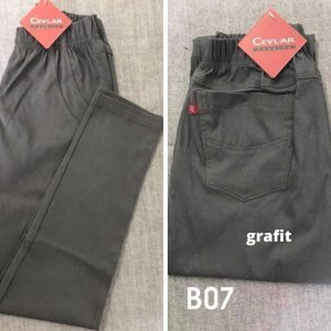 Spodnie z bengaliny Cevlar B07 kolor grafitowy, plus size XXL