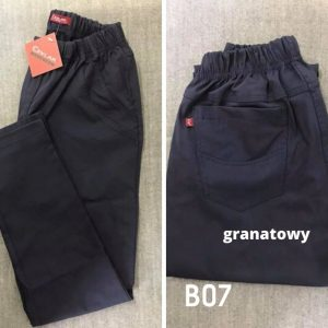 Spodnie z bengaliny Cevlar B07 kolor granatowy, plus size XXL