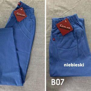 Spodnie z bengaliny Cevlar B07 kolor niebieski, plus size XXL