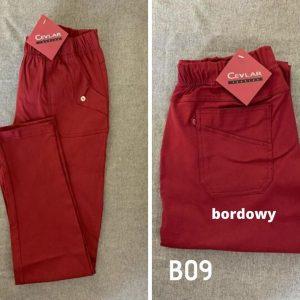 B09 bordowy