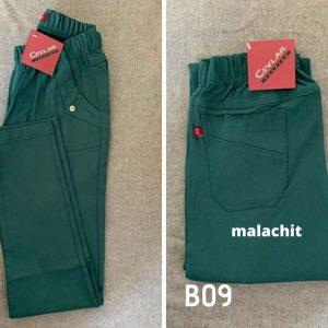 Spodnie z bengaliny Cevlar B09 kolor malachit, plus size XXL