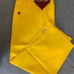 Spodnie rybaczki z bengaliny Cevlar B05 kolor żółty