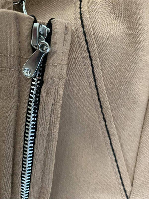 Spodnie z bengaliny Cevlar B04 kolor camel, plus size XXL