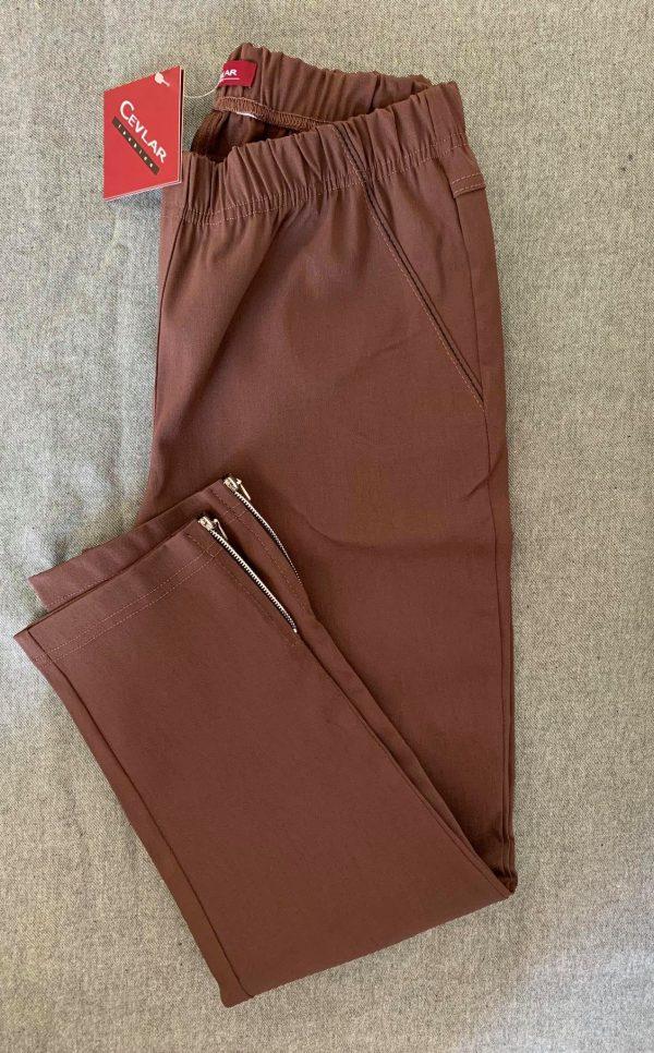 Spodnie z bengaliny Cevlar B04 kolor czekoladowy, plus size XXL