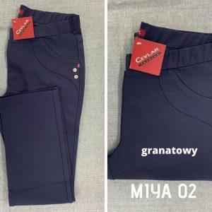 Spodnie ciepłe Cevlar Miya 02 prosta nogawka kolor granatowy