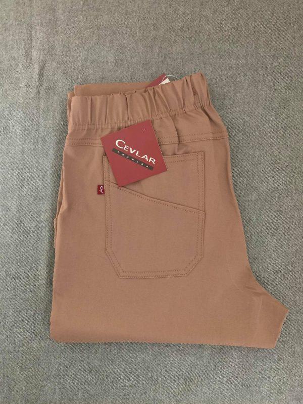 Spodnie z bengaliny Cevlar B09 kolor camel ciemny, plus size XXL