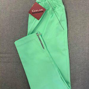 Spodnie z bengaliny Cevlar B04 kolor pistacja, plus size XXL