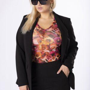 Garnitur damski kolor czarny, plus size XXL