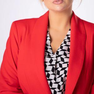 Garnitur damski kolor czerwony, plus size XXL