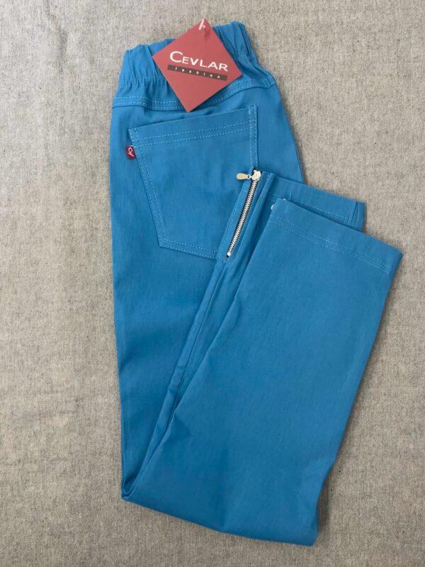 Spodnie z bengaliny Cevlar B04 kolor petrol, plus size XXL